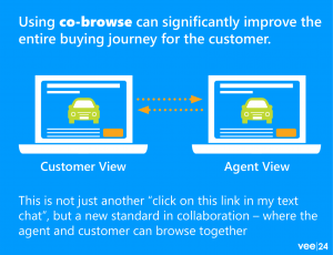 co-browse can improve the entire car buying journey for the customer when automotive shopping