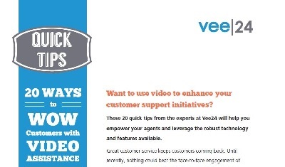 20 ways to wow customers with video assistance quick tips checklist cover vee24 logo featured