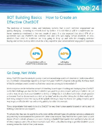 bot building basics how to create an effective chatbot cover vee24 logo