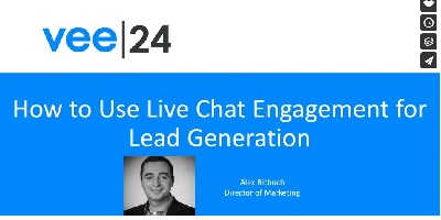 how to use live chat engagement for lead generation cove vee24 log and presenter