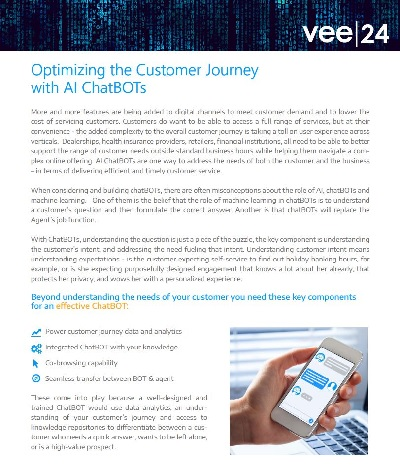 hand holding mobile phone with text chat displayed and with laptop in the background guide optimizing customer journey with AI chatbots