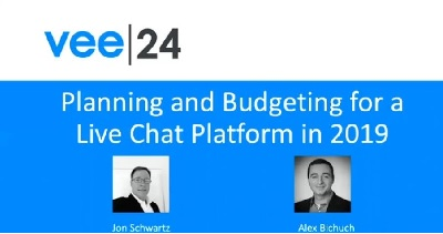 planning and budgeting for a live chat platform cover with vee24 logo and presenters